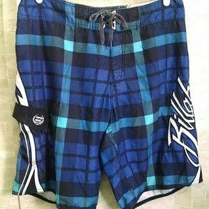 BillaBong Swimtrunks checkered blue Men's 36